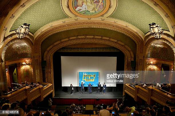 Paul Reubens Judd Apatow Paul Rust and John Lee attend the premiere of 'Peewee's Big Holiday' during the 2016 SXSW Music Film Interactive Festival at...