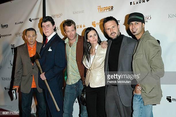 Paul Reubens Richmond Arquette Thomas Jane Courteney CoxArquette David Arquette and attend The Tripper Los Angeles Premiere Arrivals at Hollywood...