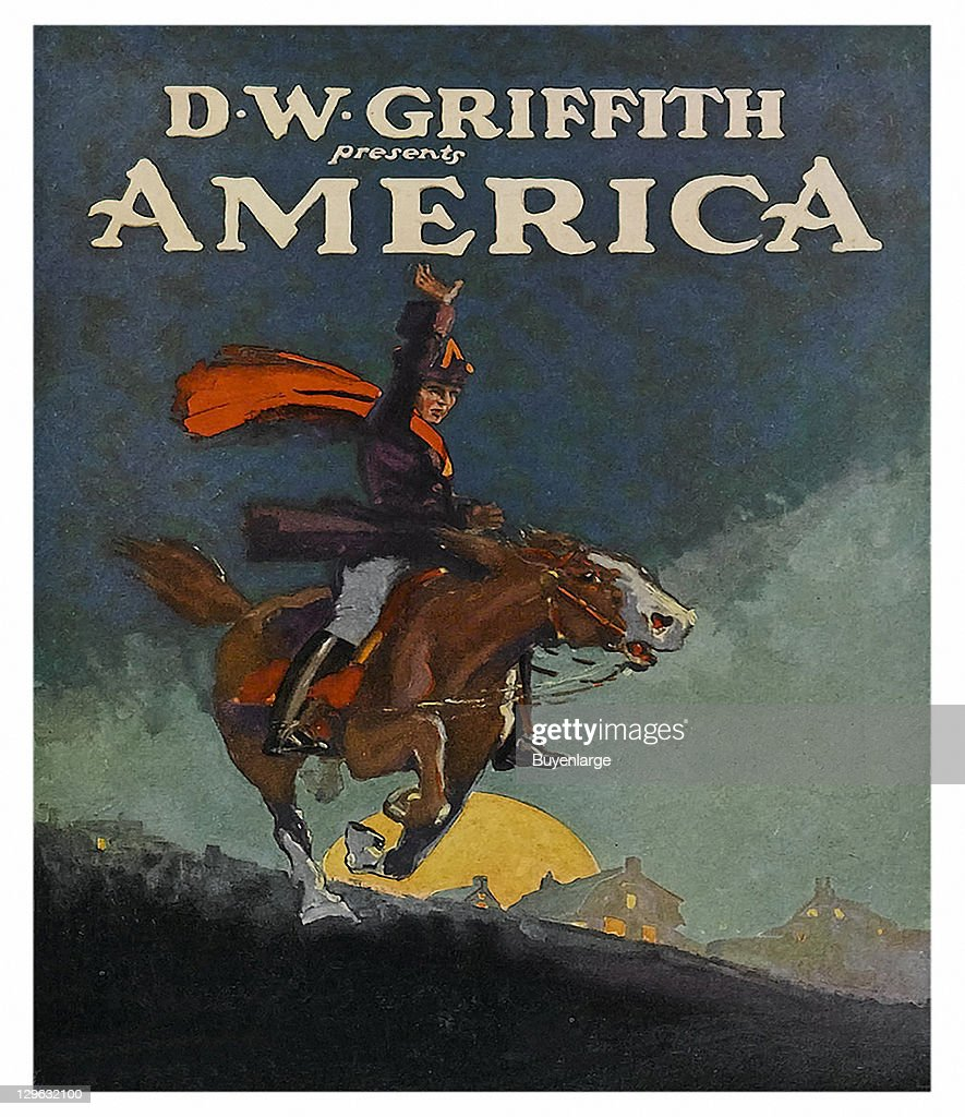 paul revere rides on horse on a poster that advertises the d w