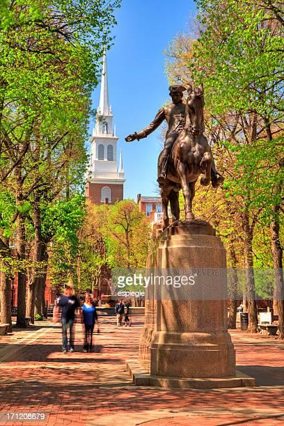 Paul Revere Statue in Boston, Massachusetts