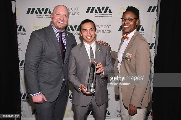 Paul Rieckhoff Daniel Rodriguez and Tracey CooperHarris attend the 9th Annual IAVA Heroes Gala at the Cipriani 42nd Street on November 12 2015 in New...