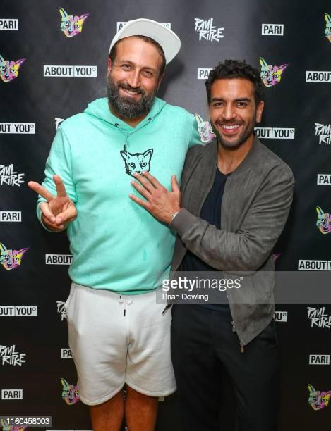 Paul Ripke and Elyas M'Barek attend the Paul Ripke Rooftop Event during the Berlin Fashion Week Spring/Summer 2020 at ewerk on July 06 2019 in Berlin...