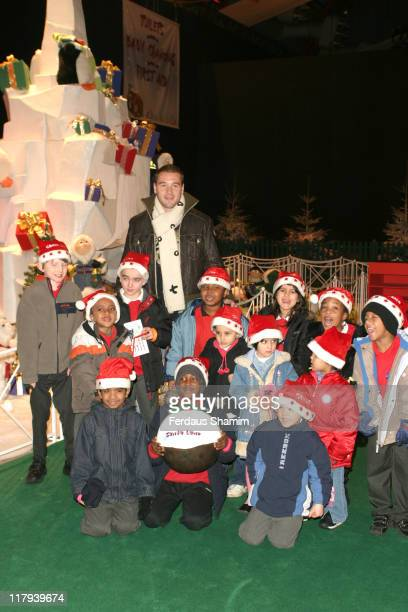 Paul Robinson and Children during Paul Robinson England and Spurs Goalkeeping Star Officially Opens Winter Wonderland December 2 2005 at Barons Court...