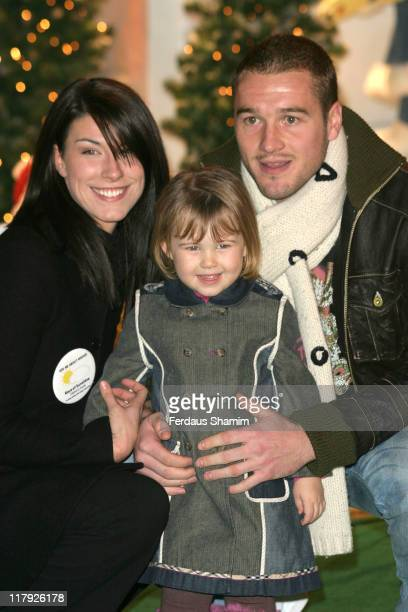 Paul Robinson and Family during Paul Robinson England and Spurs Goalkeeping Star Officially Opens Winter Wonderland December 2 2005 at Barons Court...