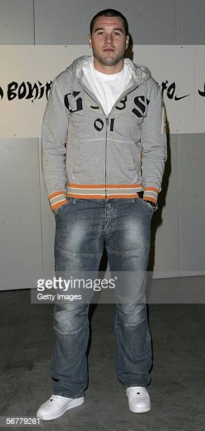 Paul Robinson arrives at the launch of Nike's 'Joga Bonito' at the Truman Brewery on February 7 2006 in London England Wayne Rooney Rio Ferdinand...
