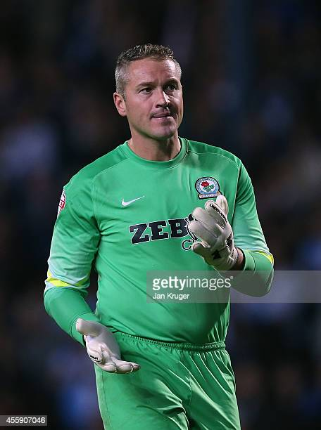Paul Robinson Goalkeeper of Blackburn Rovers looks on during the Sky Bet Championship match between Blackburn Rovers and Derby County at Ewood Park...