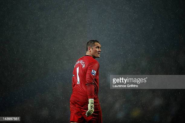 Paul Robinson of Blackburn Rovers looks on during the Barclays Premier League match between Blackburn Rovers and Wigan Athletic at Ewood Park on May...