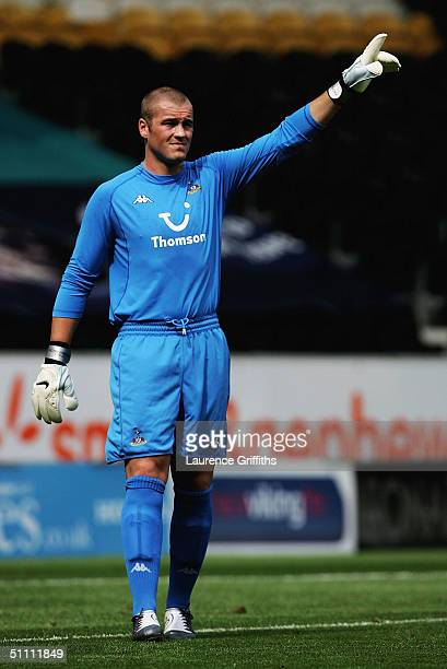 Paul Robinson of Spurs in action during the Pre Season Friendly match between Hull City and Tottenham Hotspur at The KC Stadium on July 24 2004 in...
