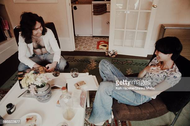 Paul Rodgers and his wife at home in London London 1976