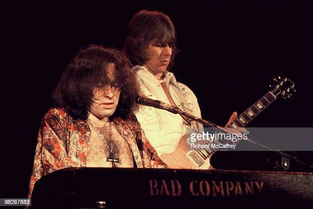 Paul Rodgers and Mick Ralphs of Bad Company perform live at The Winterland Ballroom in 1975 in San Francisco California