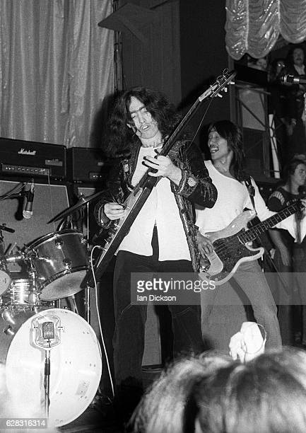 Paul Rodgers and Tetsu Yamauchi of English blues rock band Free performing on stage in United Kingdom 1972