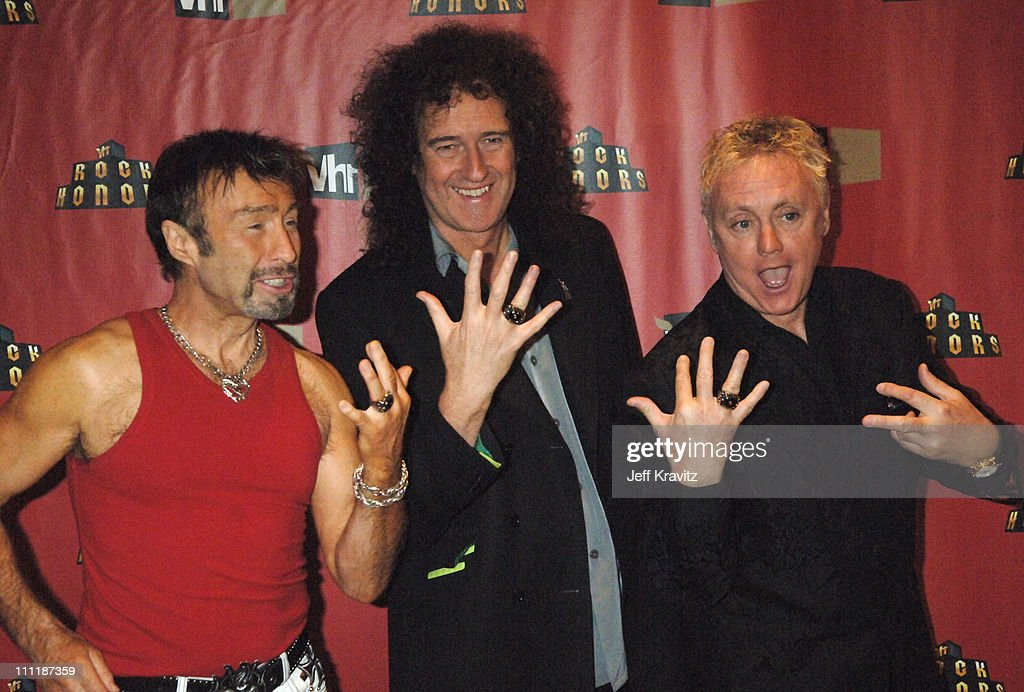 Paul Rodgers, Brian May and Roger Taylor of Queen during 2006 VH1 Rock Honors - After Party at Mandalay Bay Hotel and Casino in Las Vegas, Nevada, United States.
