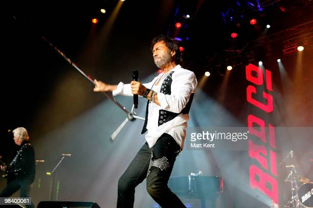Paul Rodgers of Bad Company performs at Wembley Arena on April 11 2010 in London England