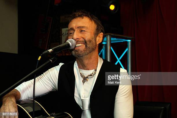 Paul Rodgers of Bad Company performs during a photocall to announce the band's new tour at Hard Rock Cafe Old Park Lane on November 17 2009 in London...