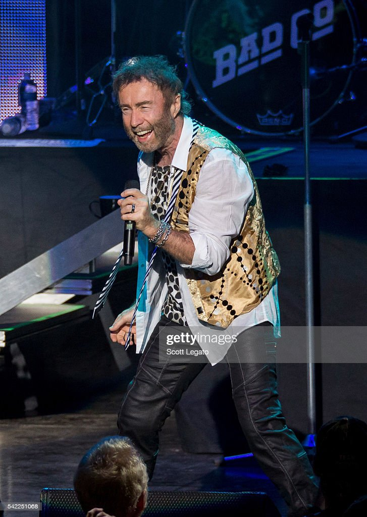 Paul Rodgers of Bad Company performs in support of their One Hell of a Night Tour 2016 at DTE Energy Music Theater on June 22, 2016 in Clarkston, Michigan.