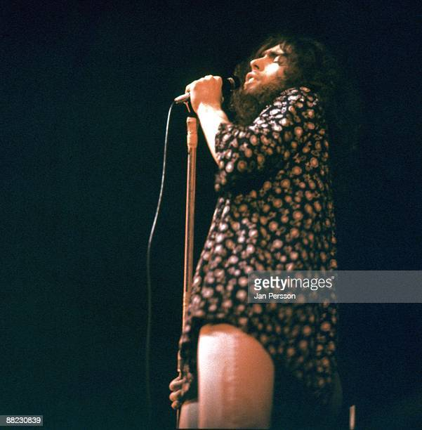 Paul Rodgers of Free performs on stage in Copenhagen in December 1970