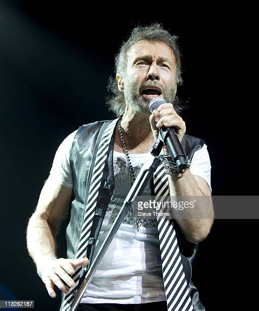 Paul Rodgers performs on stage at National Indoor Arena on April 28 2011 in Birmingham United Kingdom