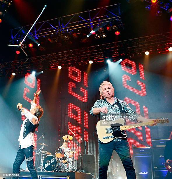 Paul Rodgers Simon Kirke and Mick Ralphs of Bad Company perform at Wembley Arena on April 11 2010 in London England