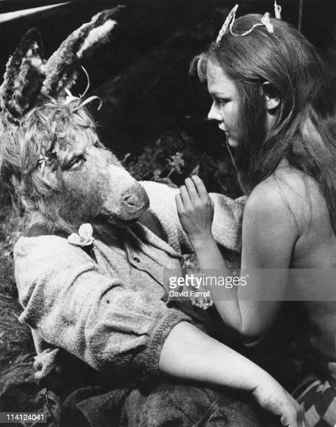 Paul Rogers as Bottom and Judi Dench as Titania during the filming of Shakespeare's play 'A Midsummer Night's Dream' 1968 The film was directed by...
