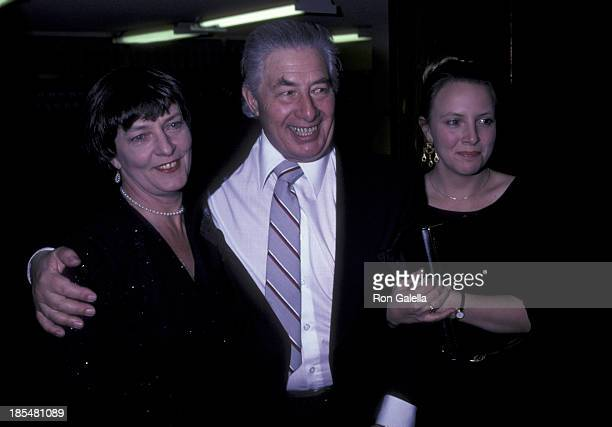 Paul Rogers wife and daughter attend the opening party for The Dresser on November 9 1981 at the Milford Plaza Hotel in New York City