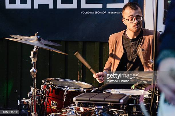 Paul Roper of the band Blouse performs on stage during Iceland Airwaves Music Festival at Hresso on October 31 2012 in Reykjavik Iceland