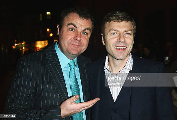 Paul Ross and Adam Ross attend the UK Premiere of Charlie at the Warner Village Cinema West End on February 2 2004 in London Charlie is the story of...