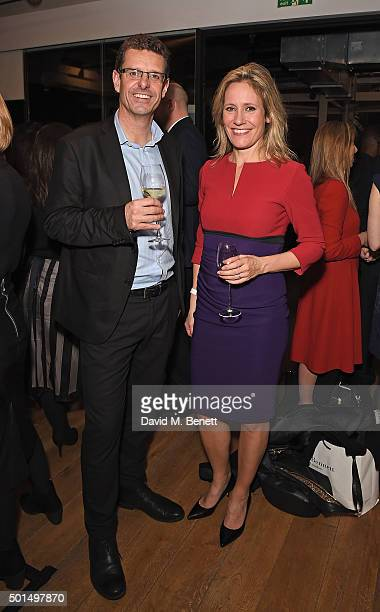 Paul Royall and Sophie Raworth attend the BBC 100 Women gala hosted by the BFI at BFI Southbank on December 15 2015 in London England