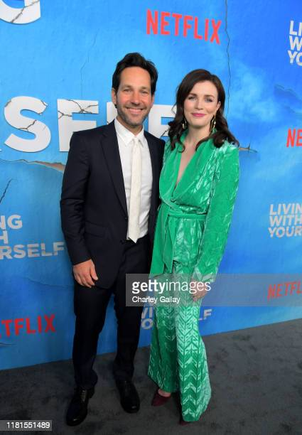 Paul Rudd and Aisling Bea attend the premiere of Netflix's 'Living With Yourself' at Arclight Hollywood on October 16 2019 in Los Angeles California