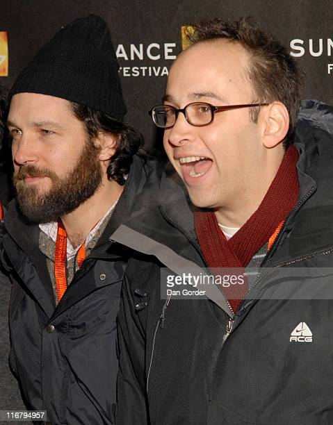 Paul Rudd and David Wain director and cowriter of 'The Ten'