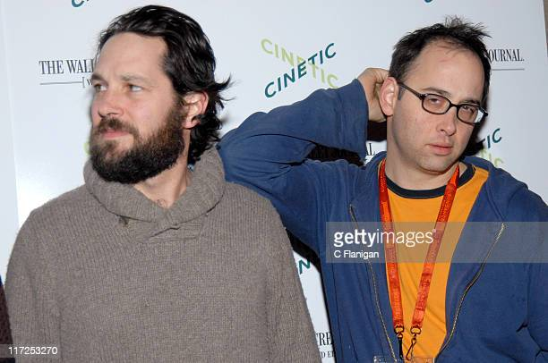 Paul Rudd and David Wain during 2007 Park City Cinetic Party in Park City Utah United States