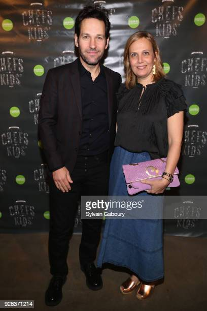 Paul Rudd and Julie Yaeger attend Cookies for Kids' Cancer Fifth Annual Chefs Benefit at Metropolitan West on March 6 2018 in New York City