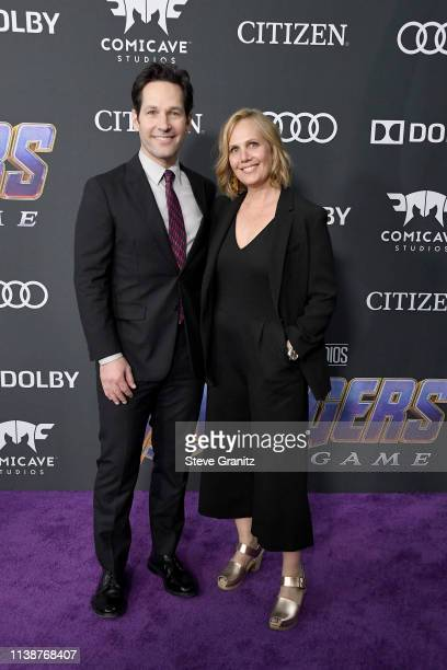 """Paul Rudd and Julie Yaeger attend the world premiere of Walt Disney Studios Motion Pictures """"Avengers: Endgame"""" at the Los Angeles Convention Center..."""