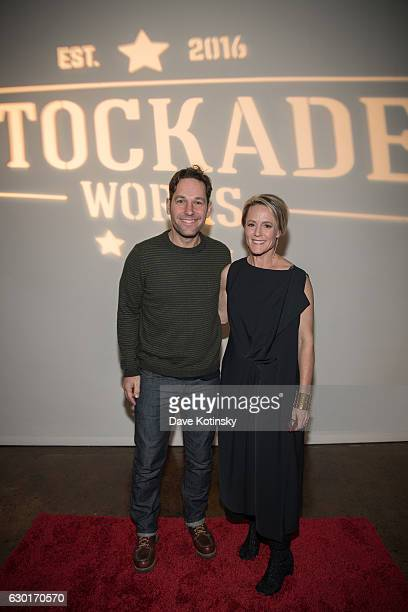 Paul Rudd and Mary Stuart Masterson attend the Holiday Fundraiser for #StockadeWorks on December 17 2016 in Kingston New York