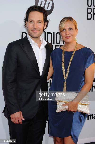 Paul Rudd and wife Julie Yaeger attend the Los Angeles premiere of Our Idiot Brother at ArcLight Hollywood on August 16 2011 in Hollywood California
