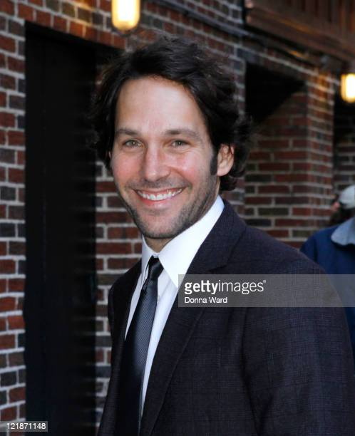 Paul Rudd arrives for the 'Late Show With David Letterman' at the Ed Sullivan Theater on August 22 2011 in New York City