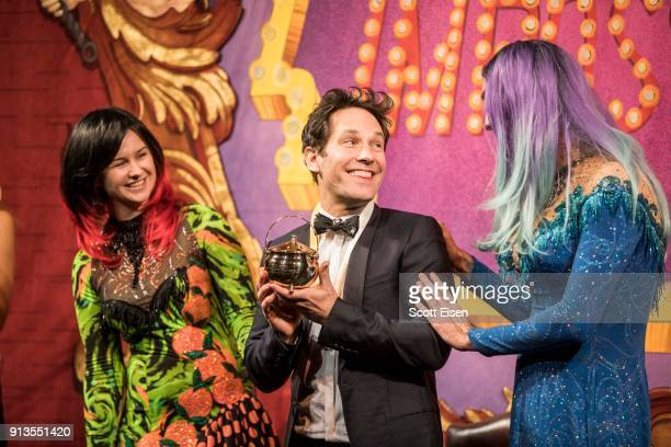 Paul Rudd at the Hasty Pudding 2018 Man of the Year Celebration cohosted by Clase Azul Tequila on February 2 2018 in Cambridge Massachusetts