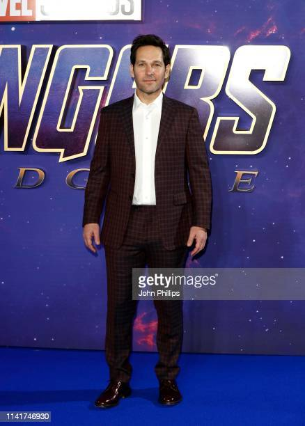 Paul Rudd attends the 'Avengers Endgame' UK Fan Event at the Picturehouse Central on April 10 2019 in London England