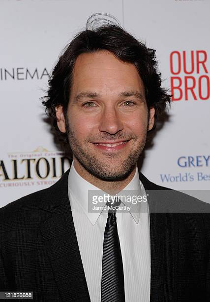 Paul Rudd attends The Cinema Society Altoids screening of The Weinstein Company's 'Our Idiot Brother' at 1 MiMA Tower on August 22 2011 in New York...