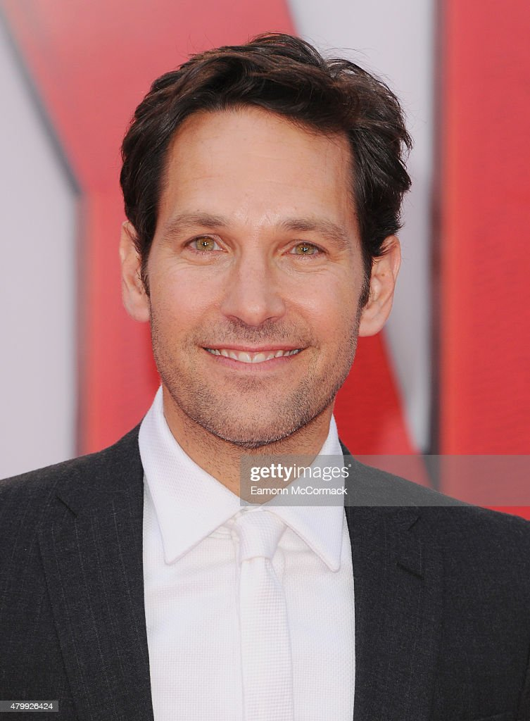Paul Rudd attends the European Premiere of Marvel's 'Ant-Man' at Odeon Leicester Square on July 8, 2015 in London, England.