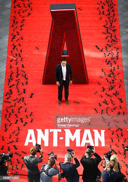 Paul Rudd attends the European Premiere of Marvel's 'AntMan' at Odeon Leicester Square on July 8 2015 in London England Image shot from The Hampshire...