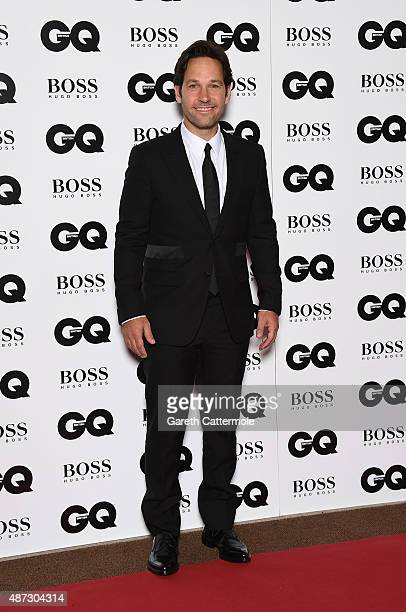 Paul Rudd attends the GQ Men Of The Year Awards at The Royal Opera House on September 8 2015 in London England