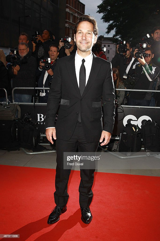 Paul Rudd attends the GQ Men Of The Year Awards at The Royal Opera House on September 8, 2015 in London, England.
