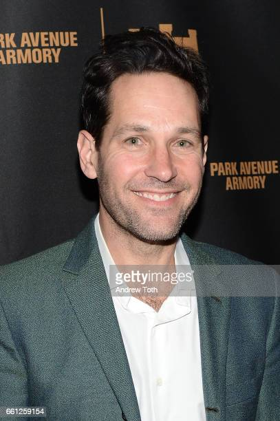 Paul Rudd attends 'The Hairy Ape's' opening night party at the Park Avenue Armory on March 30 2017 in New York City
