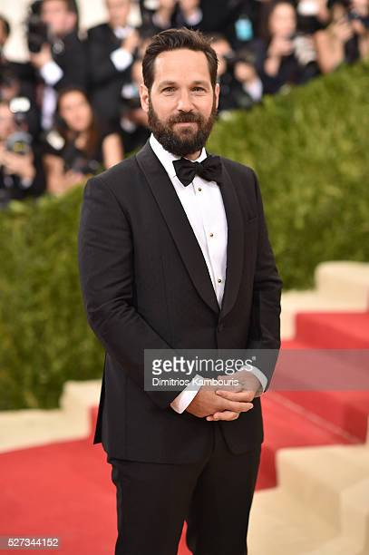 Paul Rudd attends the 'Manus x Machina Fashion In An Age Of Technology' Costume Institute Gala at Metropolitan Museum of Art on May 2 2016 in New...