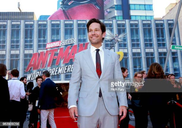 Paul Rudd attends the premiere of Disney And Marvel's 'AntMan And The Wasp' on June 25 2018 in Los Angeles California
