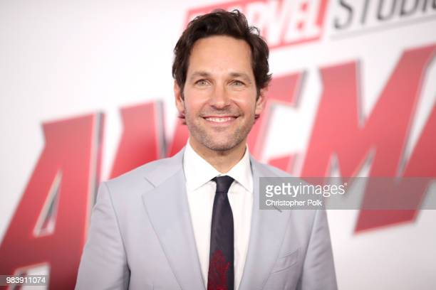 Paul Rudd attends the premiere of Disney And Marvel's AntMan And The Wasp on June 25 2018 in Los Angeles California