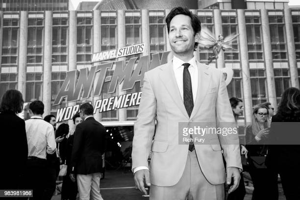 Paul Rudd attends the premiere of Disney And Marvel's 'AntMan And The Wasp' on June 25 2018 in Hollywood California
