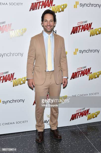 Paul Rudd attends the screening of Marvel Studios' 'AntMan and The Wasp' hosted by The Cinema Society with Synchrony and Avion at Museum of Modern...