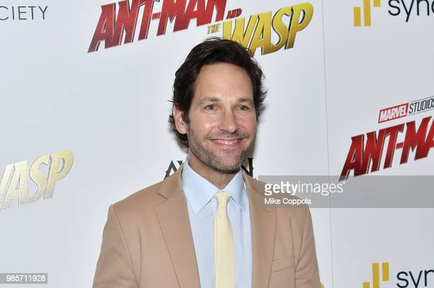Paul Rudd attends the screening of Marvel Studios' AntMan and The Wasp hosted by The Cinema Society with Synchrony and Avion at Museum of Modern Art...