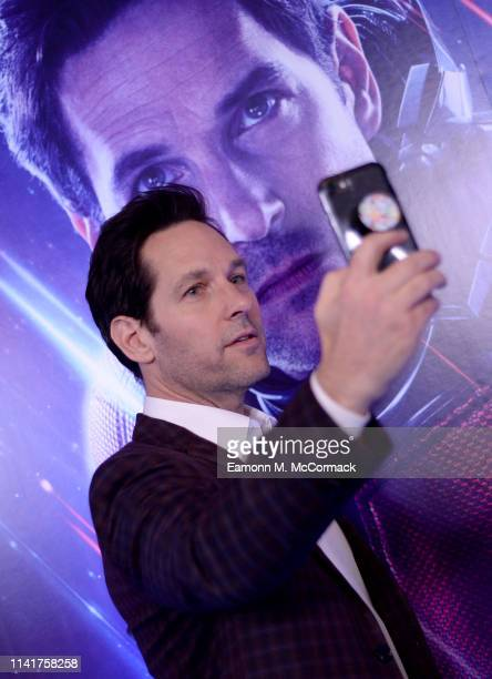 Paul Rudd attends the UK Fan Event to celebrate the release of Marvel Studios' 'Avengers Endgame' at Picturehouse Central on April 10 2019 in London...